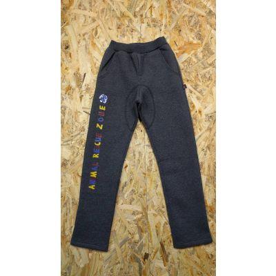 Спортивные брюки утеплённые 115199 серые ТМ SMIL,Украина