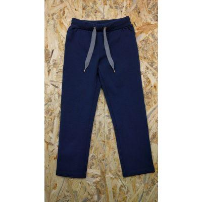 Спортивные брюки для мальчика 115307т.синие начёс ТМ SMIL, Украина