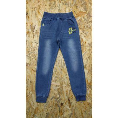 Спортивные брюки для мальчика 5482 джинс трикотаж F&D kids, Венгрия