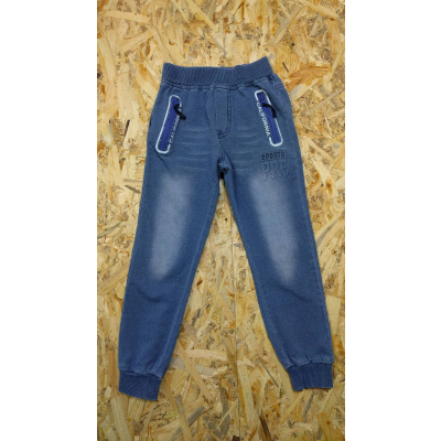 Спортивные брюки для мальчика 5483 джинс трикотаж F&D kids, Венгрия