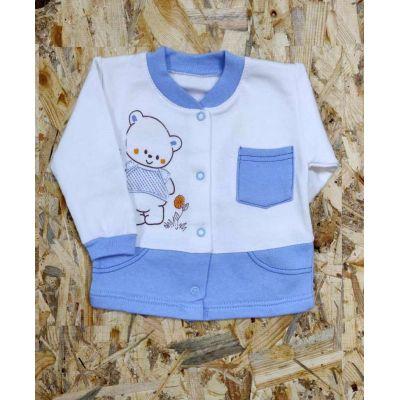 Кофточка начес для мальчика 9-026 голубая