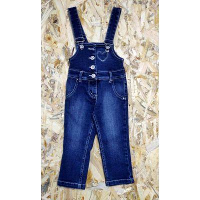 Полукомбинезон джинсовый для девочки 12546311 Мята