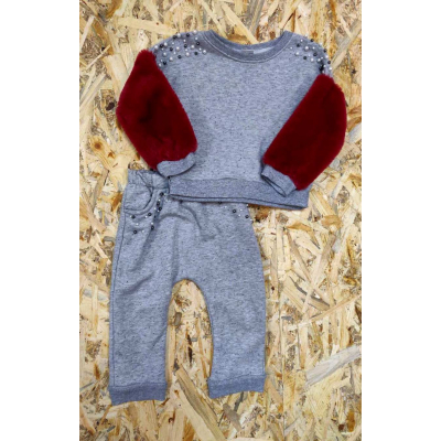 Комплект (свитшот и брюки) для девочки Бусины Турция
