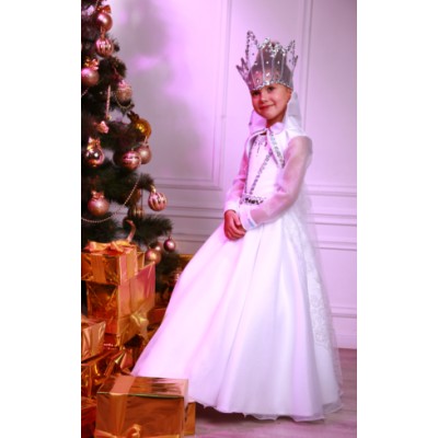 Карнавальный костюм для девочки Снежная Красавица (Королева)