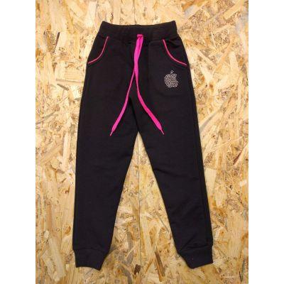 Спортивные брюки для девочки 7768 черные