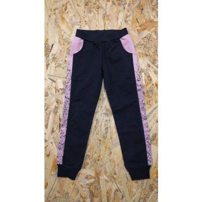 Спортивные брюки для девочки 105 5-73 черные ТМ Ля-Ля, Украина
