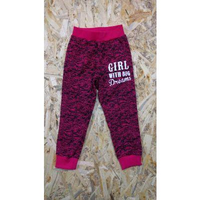 Спортивные брюки для девочки  8071 малиновые Венгрия