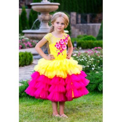 Нарядное бальное платье для девочки 11744
