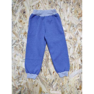 Спортивные брюки 63501 сине-серые, Украина