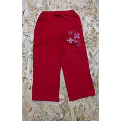 Спортивные брюки для девочки Д178 красные Lotex, Украина