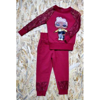 Комплект (реглан и брюки) для девочки LOL George, Турция