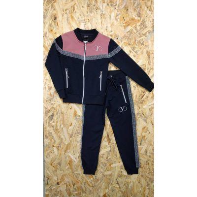 Комплект для девочки куртка и брюки 9090 т.синий Турция