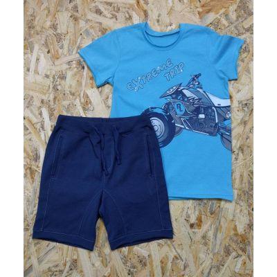 Комплект футболка и шорты для мальчика 3ТК107Б голубой ТМ Ля-Ля, Украина