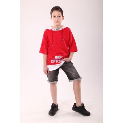 Шорты для мальчика джинсовые 120.05 серые ТМ Marions