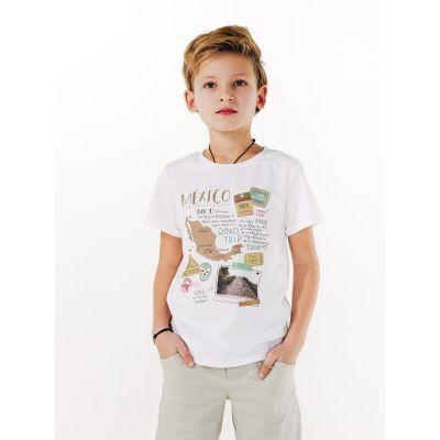 Футболка для мальчика 110508 белая ТМ SMIL