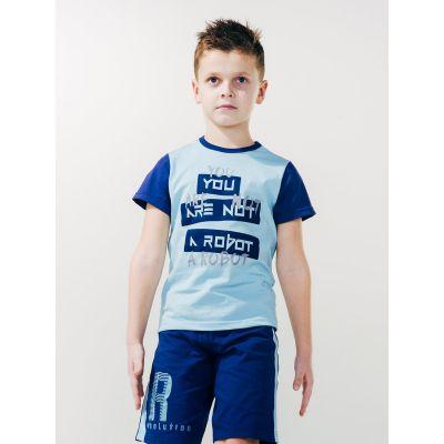 Футболка для мальчика 110519 лазурная ТМ SMIL