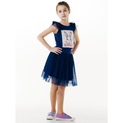 Майка для девочки 110528 синяя ТМ SMIL