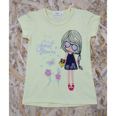 Футболка для девочки  10243 желтая BREEZE GIRL Турция