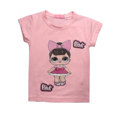 Футболка Кукла Лол для девочки LL16-38 розовая, Турция