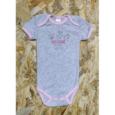 Боди - футболка жаккард для девочки 495-1022 Фламинго, Украина