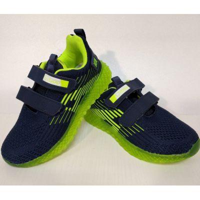 Кроссовки светящиеся  F863/865 сине-зелёные  CLIBEE,Польша
