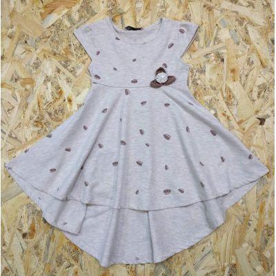Платье трикотажное 9308 бежевое Турция