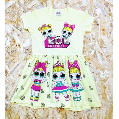 Платье желтое LOL&LOL