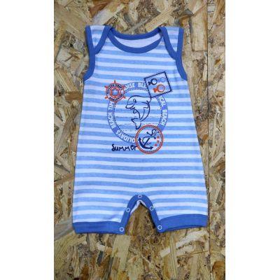 Песочник (летний комбинезон) для мальчика 545-1009 голубой