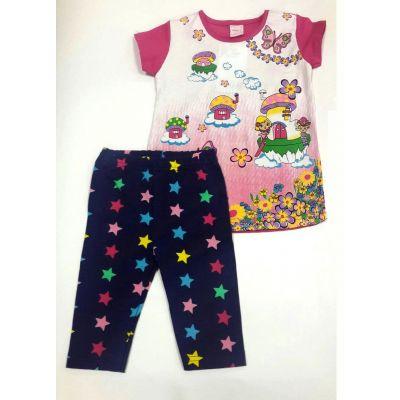 Комплект (футболки и бриджи) для девочки 0211