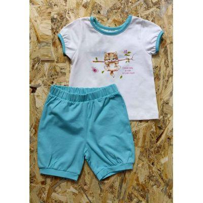 Комплект (футболка и шорты) для девочки 201-04 мята