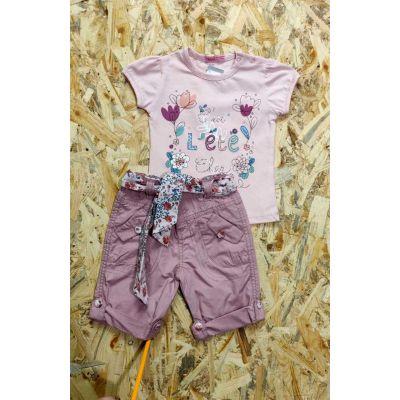 Комплект (футболка и шорты) для девочки TK7516