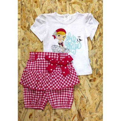 Комплект (футболка и бриджи) для девочки 14002