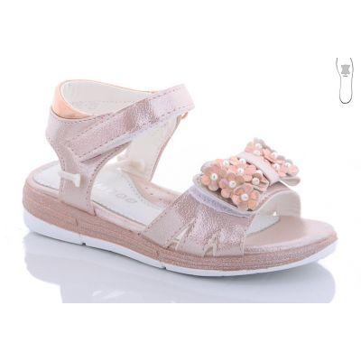 Босоножки для девочки J136-2F розовая пудра