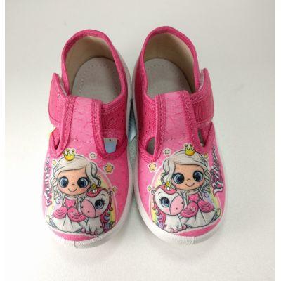 Туфли текстильные  Даша Принцесса малиновые