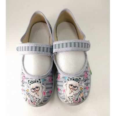 Туфли текстильные Алина девочка Модница