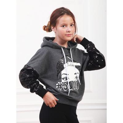 Свитшот для девочки 7063 серый ТМ Marions
