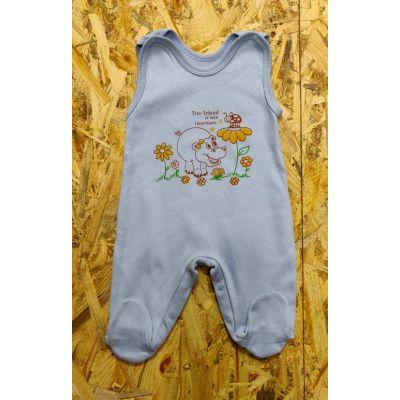 Ползунки для мальчика 9-034 голубые