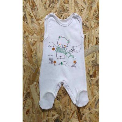 Ползунки для новорожденного 9-034 молочные