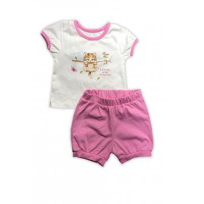 Комплект (футболка и шорты) для девочки 201-04 розовый