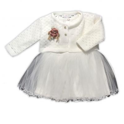 Платье + болеро нарядное (крестильное) для девочки 300