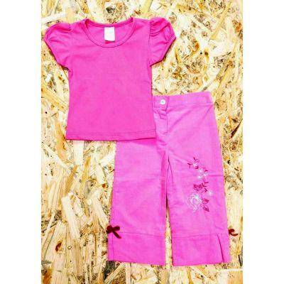 Комплект (футболка и бриджи) 2300 розовый
