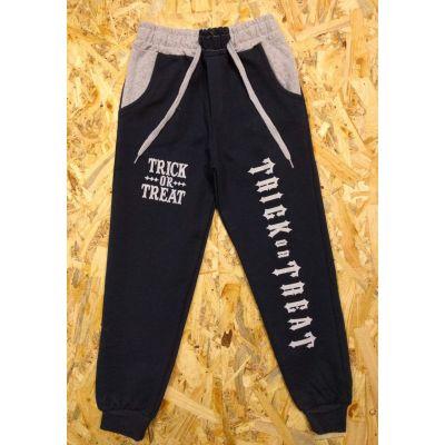 Спортивные  брюки для мальчика 1200 тёмно-синие(графит)