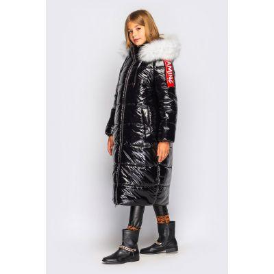 Куртка пальто для девочки Джеки черное
