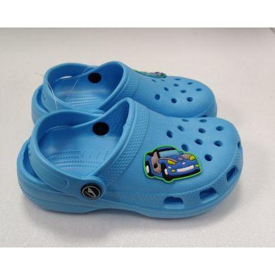 Кроксы Машинка голубые