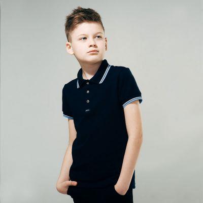 Футболка - поло к.р. для мальчика 114594 SMIL