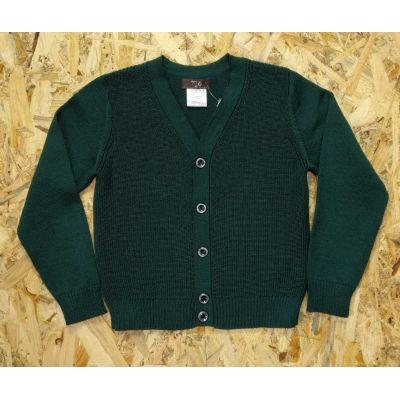 Жакет для мальчика вязка 14-031604 темно-зелёный