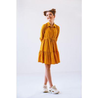 Платье Велина горчица