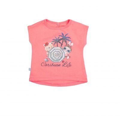 Блуза-футболка Карибские Каникулы 110579 коралл