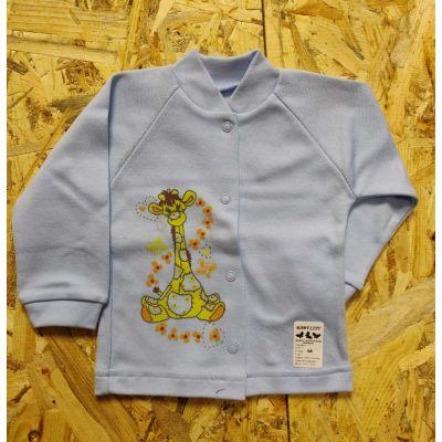 Кофточка для новорожденного Жирафик голубая