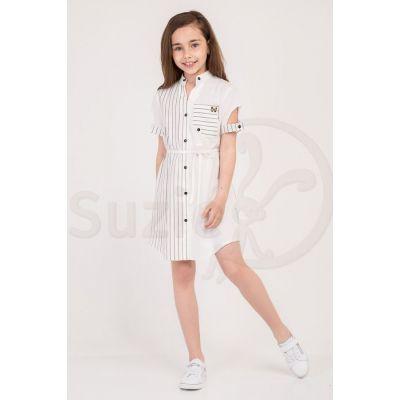 Платье туника молочное Азель